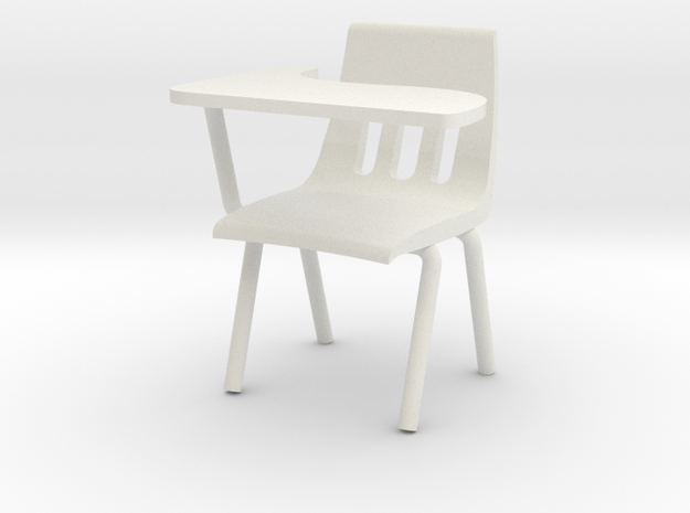 1:24 Classchair Right Hand in White Natural Versatile Plastic