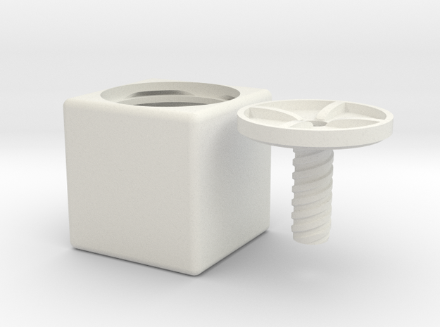 ring holder The Cube in White Natural Versatile Plastic