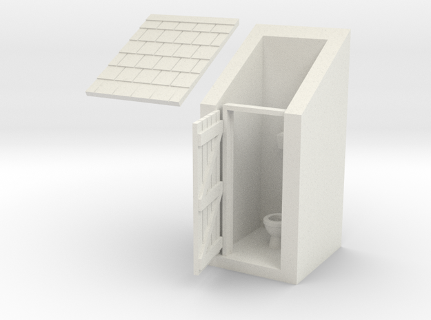 Outdoor Privy in White Natural Versatile Plastic