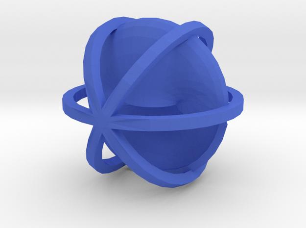 Reflector in Blue Processed Versatile Plastic