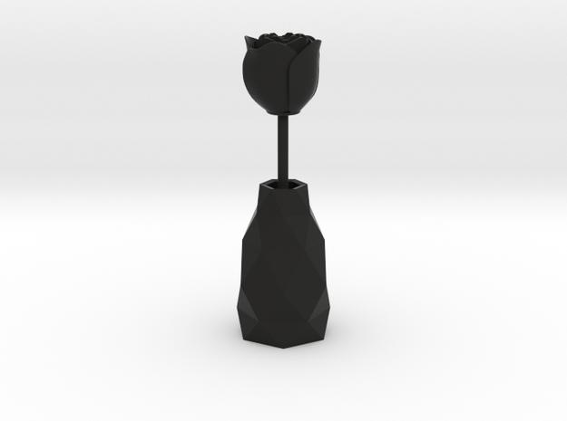 Rose In A Vase smaller 3d printed