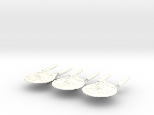 Trenton Class Starship (Set of 3) 3d printed