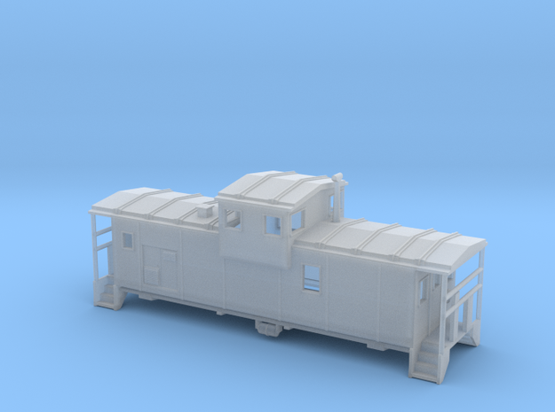 DMIR Widevision Caboose Early - Zscale in Smooth Fine Detail Plastic