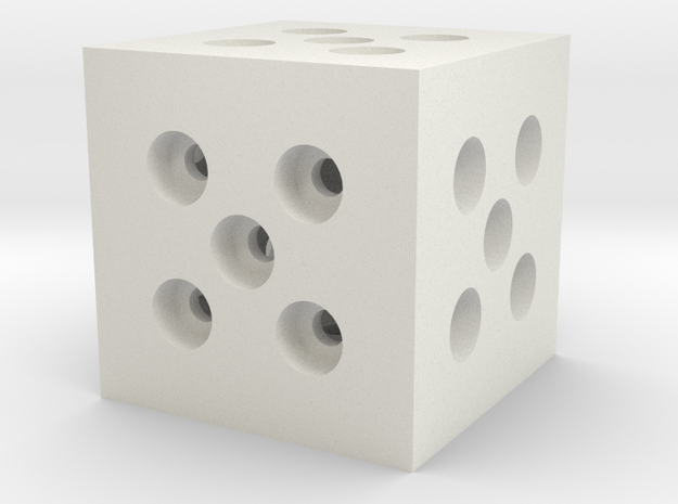 Building Block 1x1 in White Natural Versatile Plastic