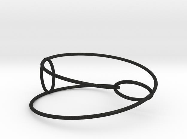 Elliptical Inside-Out | Bracelet | 2x1 Circle 3d printed