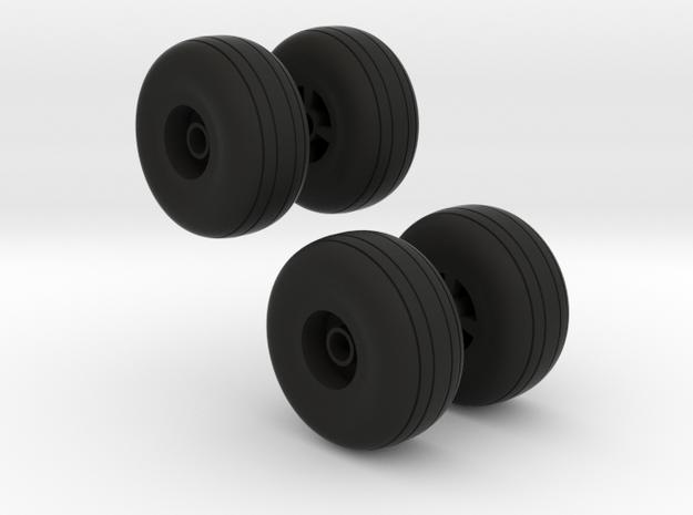 Reifen für Flugzeugfahrwerk in Black Natural Versatile Plastic
