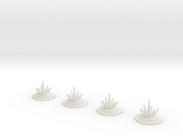 ASW splash counters in White Natural Versatile Plastic