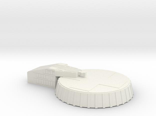 Micro Lunar Landing Pad in White Strong & Flexible