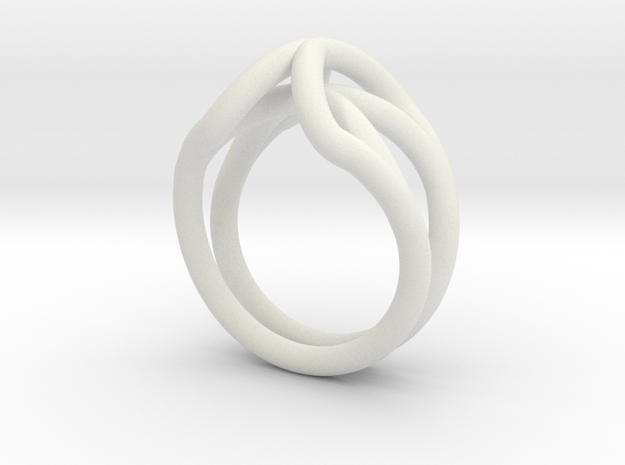 Spider Ring Size 6 in White Natural Versatile Plastic