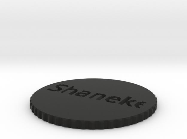 by kelecrea, engraved: Shaneke 3d printed