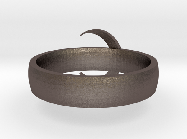 Moon Ring STL in Stainless Steel