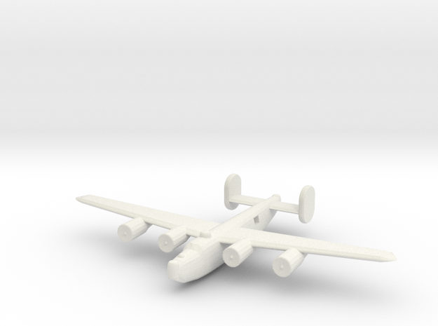 1/300 B24 Liberator in White Natural Versatile Plastic