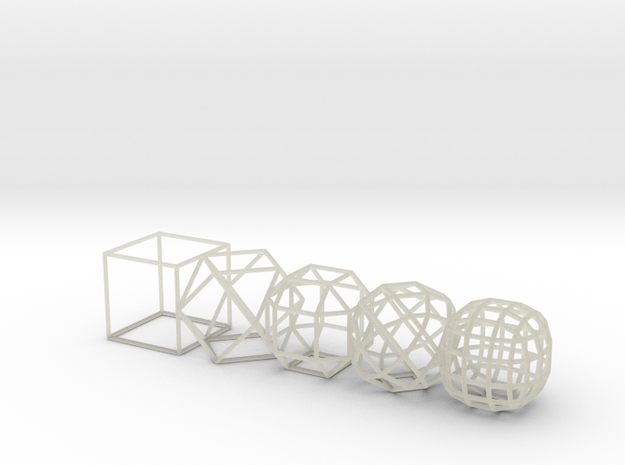 cube to ball 5step 3d printed