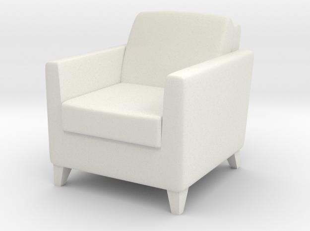 1:24 Arm Chair 1 in White Natural Versatile Plastic