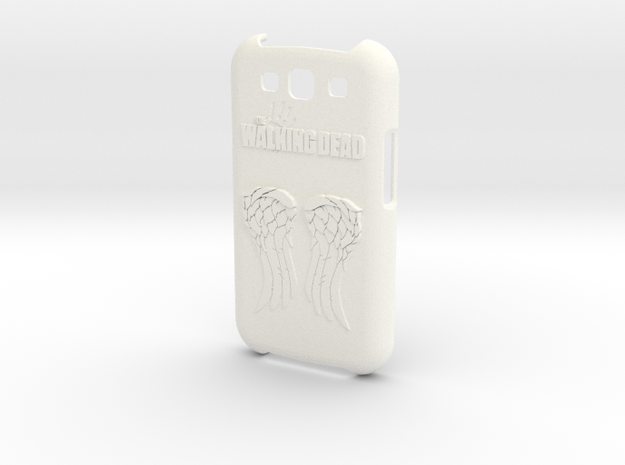 The Walking Dead Case for Galaxy S3 in White Processed Versatile Plastic