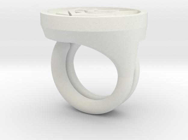 Decepticon Rings in White Natural Versatile Plastic