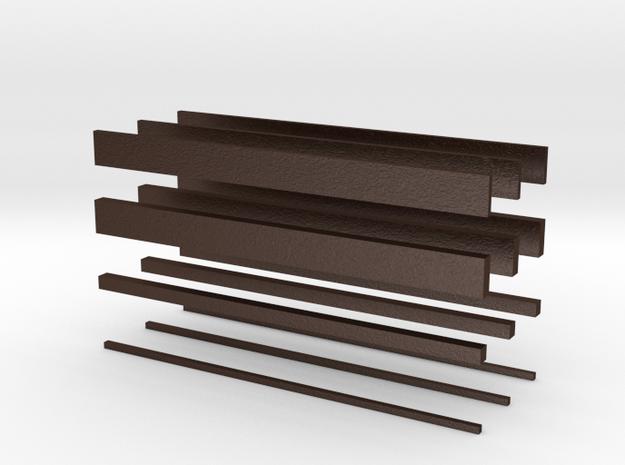 thin bars batch 3d printed