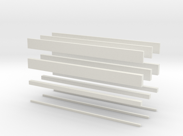 thin bars batch 3d printed