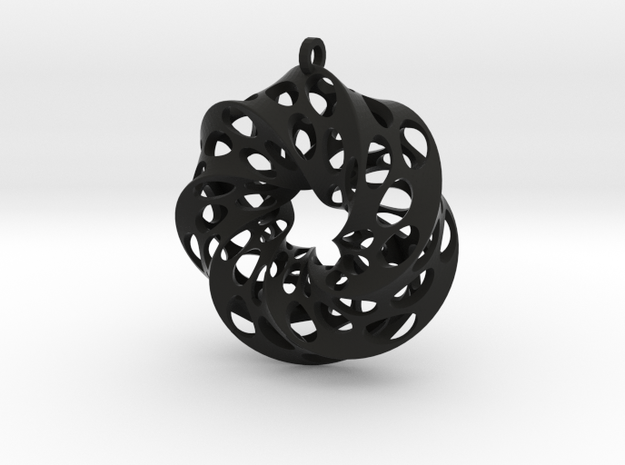 Mobius Square with Circles 3d printed