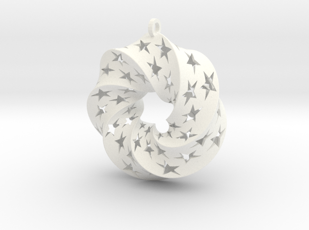 Mobius Square with Stars (Large) 3d printed