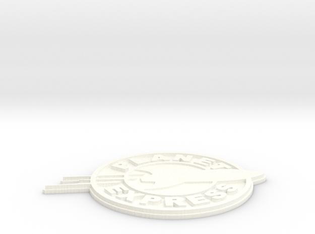 planet express logo in White Processed Versatile Plastic