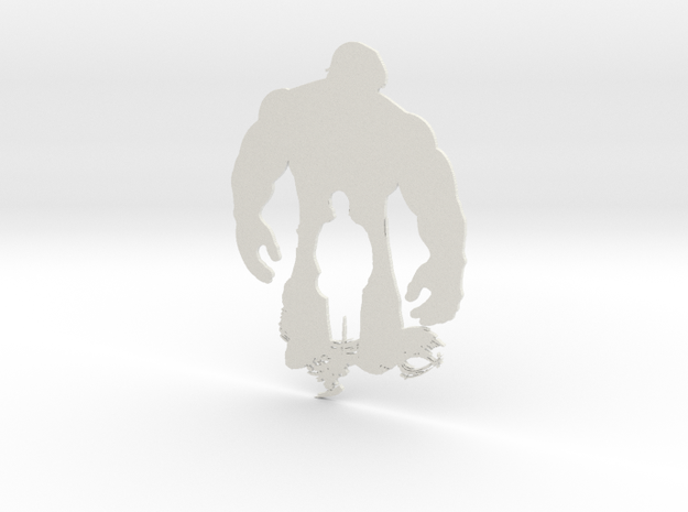 Hulk artwork in White Natural Versatile Plastic