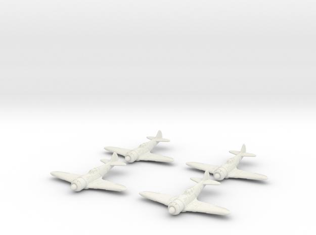 1/200 Lavochkin La-7 (x4) in White Strong & Flexible