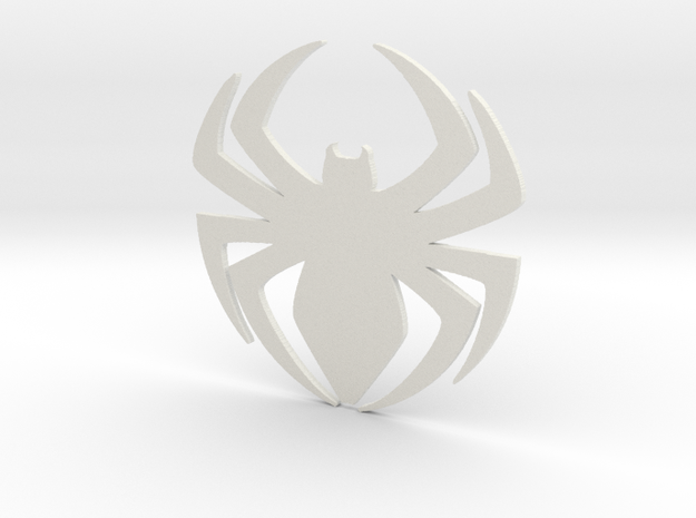 Superior Spider Symbol in White Natural Versatile Plastic