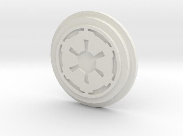 Imperial Logo Pommel Insert in White Natural Versatile Plastic
