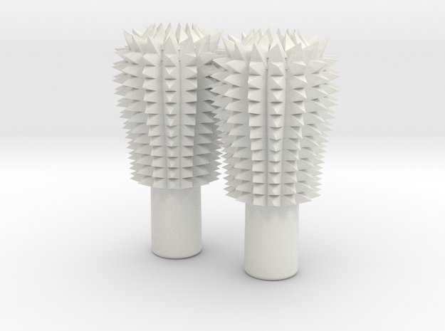 Gimbal Club Spikey in White Natural Versatile Plastic