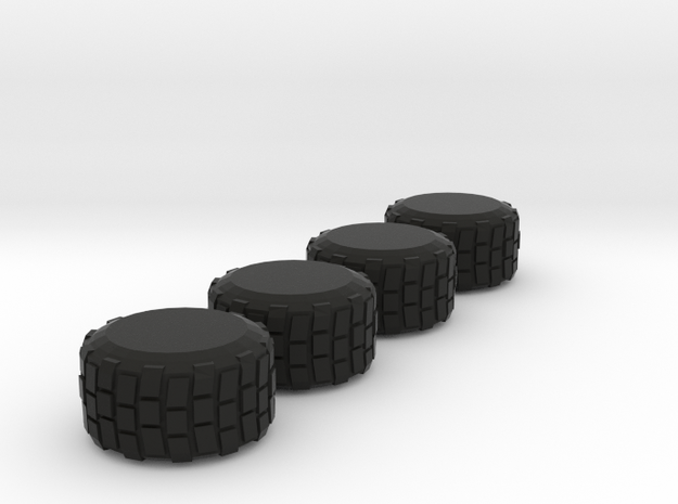 Military-Style Tires, 5mm Diameter 3d printed