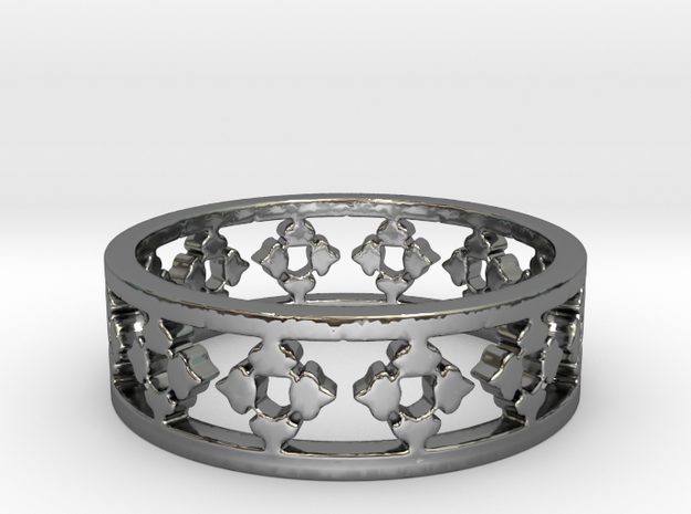 Endless Knight  Ring Size 7 in Premium Silver