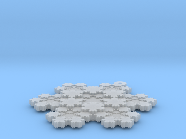 Koch Snowflake - 1 in Smooth Fine Detail Plastic