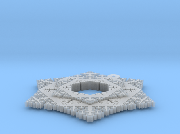 Cesaro Snowflake - 4 in Smooth Fine Detail Plastic