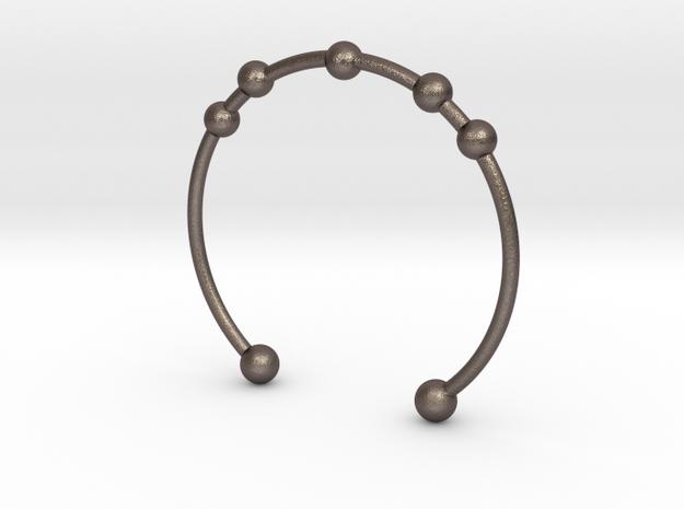 Bracelet Seven in Polished Bronzed Silver Steel