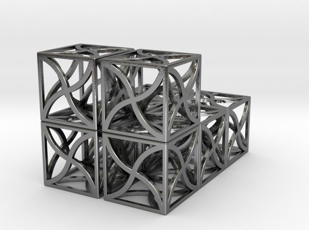 Twirl cubed puzzle part #4--x2 (3x3x3in puzzle cu 3d printed