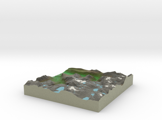 Terrafab generated model Thu Feb 27 2014 23:41:22  in Full Color Sandstone