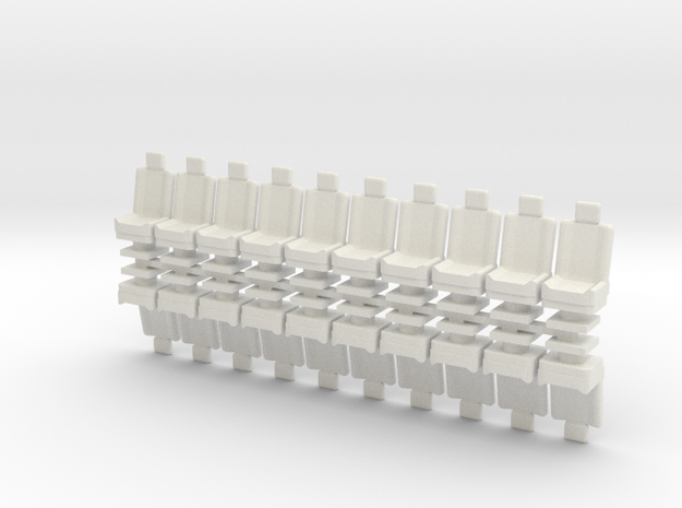15mm Standard Seats x20 in White Natural Versatile Plastic