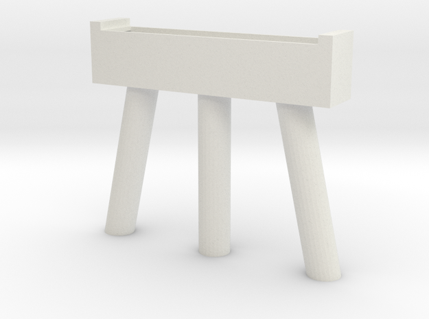 Bridge HO pier round in White Natural Versatile Plastic