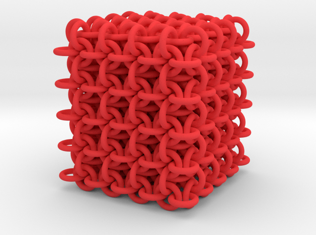3D chain mail, 4x4x4 grid 3d printed
