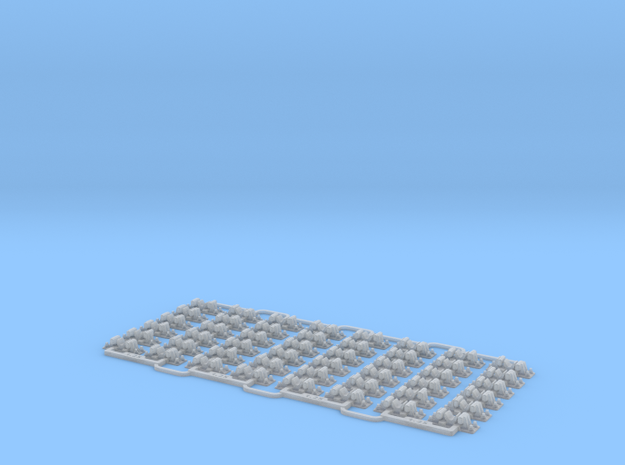 Check Rail Chairs 1.25mm Four Pack in Smooth Fine Detail Plastic