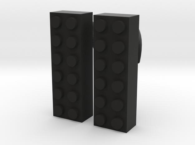 2x6 Brick Earring 00g 3d printed