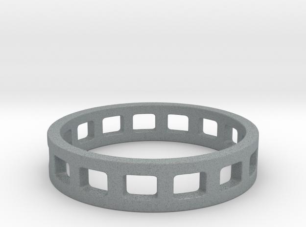 Geometric Rectangles Ring Modern Jewelry in Polished Metallic Plastic