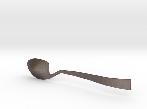Jinard Flatware Spoon in Polished Bronzed Silver Steel