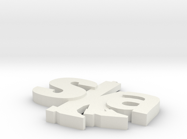 ska pendant design 1 in White Strong & Flexible