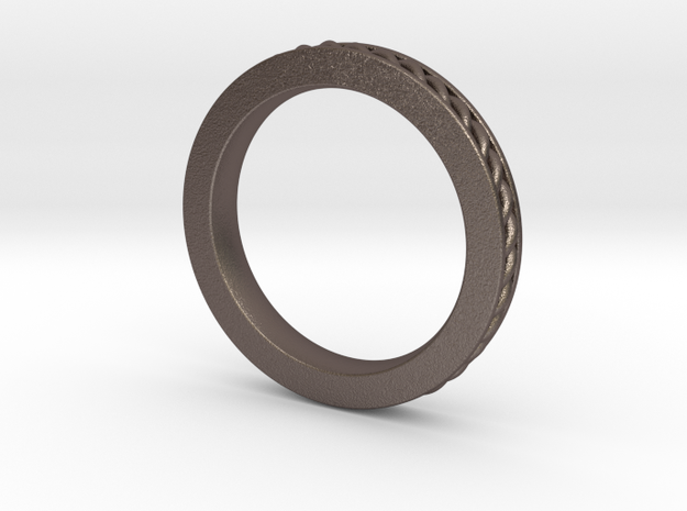 Stuckable band #1 in Polished Bronzed Silver Steel