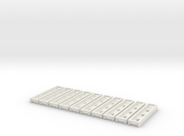 0524 Rillengleis Abstandhalter 10x 3d printed