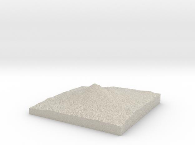 Model of Mount McLoughlin 3d printed