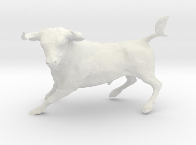 Bull in White Strong & Flexible