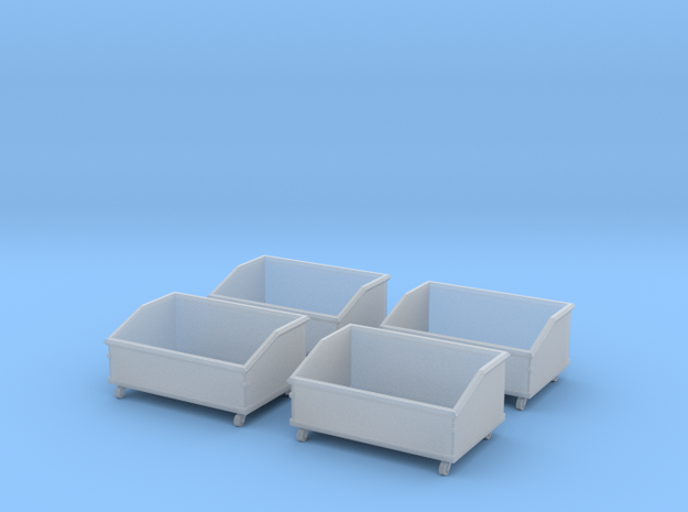O Scale Dumpsters (Early 1950s) in Smooth Fine Detail Plastic